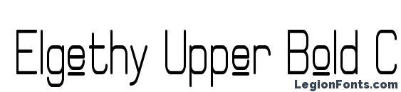 Elgethy Upper Bold Condensed Font
