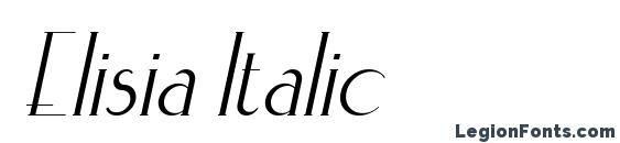 Elisia Italic Font