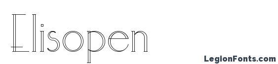 Elisopen font, free Elisopen font, preview Elisopen font