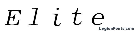 Шрифт Elite italic