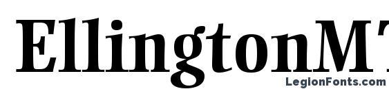 EllingtonMTStd Bold Font