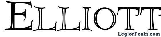 Elliottland J font, free Elliottland J font, preview Elliottland J font