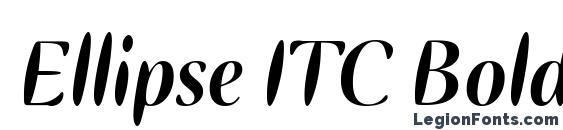 Ellipse ITC Bold Italic Font