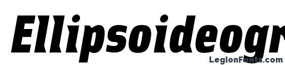 Ellipsoideogram Font