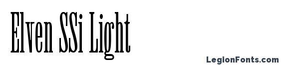 Elven SSi Light font, free Elven SSi Light font, preview Elven SSi Light font