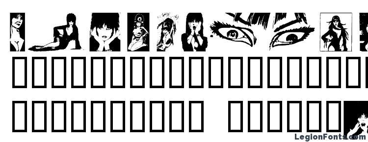 glyphs Elvira dingbats font, сharacters Elvira dingbats font, symbols Elvira dingbats font, character map Elvira dingbats font, preview Elvira dingbats font, abc Elvira dingbats font, Elvira dingbats font