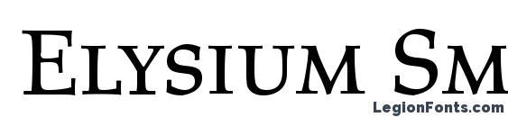 Elysium Small Caps LET Font