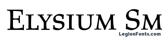 Шрифт Elysium Small Caps LET