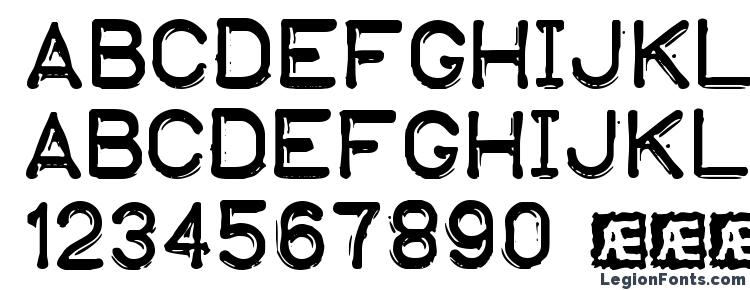 glyphs Embossing Tape 1 BRK font, сharacters Embossing Tape 1 BRK font, symbols Embossing Tape 1 BRK font, character map Embossing Tape 1 BRK font, preview Embossing Tape 1 BRK font, abc Embossing Tape 1 BRK font, Embossing Tape 1 BRK font