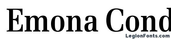 Emona Cond Bold Font