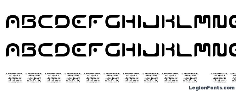 glyphs Emophonic font, сharacters Emophonic font, symbols Emophonic font, character map Emophonic font, preview Emophonic font, abc Emophonic font, Emophonic font