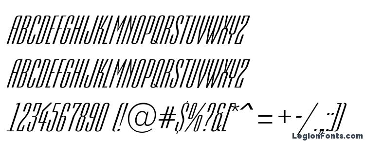 глифы шрифта Empirial italic, символы шрифта Empirial italic, символьная карта шрифта Empirial italic, предварительный просмотр шрифта Empirial italic, алфавит шрифта Empirial italic, шрифт Empirial italic