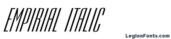 шрифт Empirial italic, бесплатный шрифт Empirial italic, предварительный просмотр шрифта Empirial italic