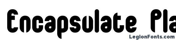 Encapsulate Plain BRK Font, Stylish Fonts
