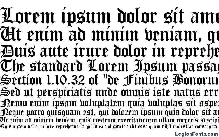 Specimens Encient German Gothic Font Sample An Example Of Writing