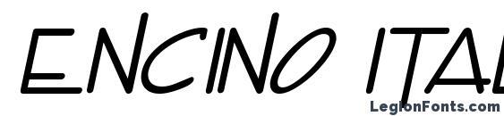 Encino Italic Font
