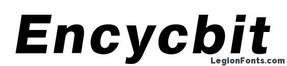 Encycbit font, free Encycbit font, preview Encycbit font