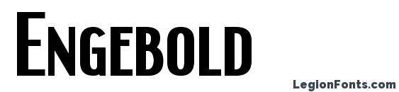 Engebold font, free Engebold font, preview Engebold font