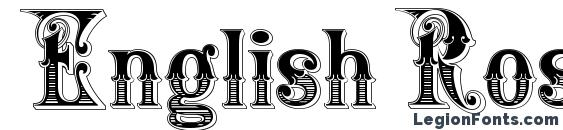 English Rose Font, Tattoo Fonts