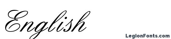 English Font, Cursive Fonts