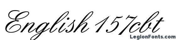 Шрифт English157cbt