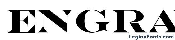 Engravers MT Bold Font