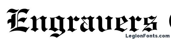 Engravers Old English Bold BT Font