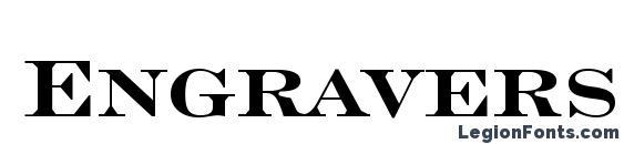 Шрифт Engravers Roman Bold BT