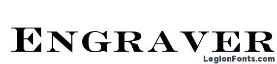 EngraversLTStd BoldFace Font