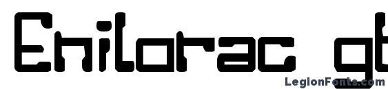 Шрифт Enilorac gty