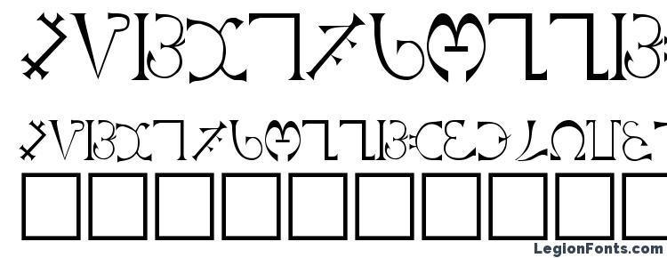 глифы шрифта Enochian Regular, символы шрифта Enochian Regular, символьная карта шрифта Enochian Regular, предварительный просмотр шрифта Enochian Regular, алфавит шрифта Enochian Regular, шрифт Enochian Regular