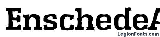 EnschedeAntique Bold Font