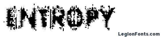 Шрифт Entropy