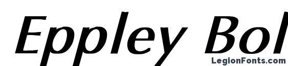 Шрифт Eppley Bold Italic