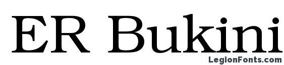 ER Bukinist 1251 Font