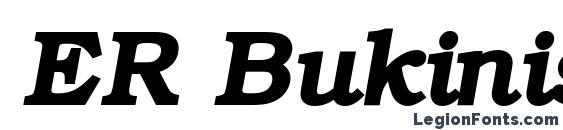 Шрифт ER Bukinist KOI8 R Bold Italic