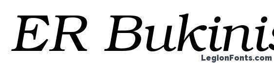 Шрифт ER Bukinist Mac Italic