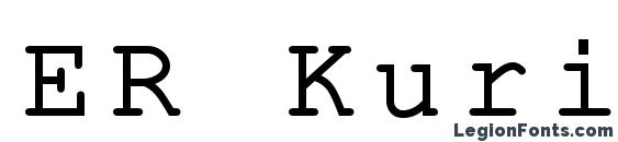 ER Kurier KOI8 R Font