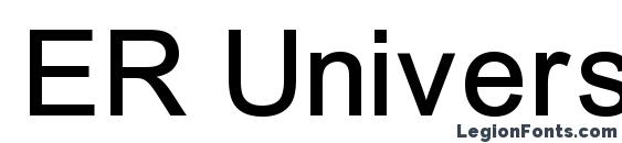 Шрифт ER Univers 1251