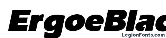 Шрифт ErgoeBlack Italic