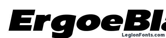 Шрифт ErgoeBlackExpanded Italic