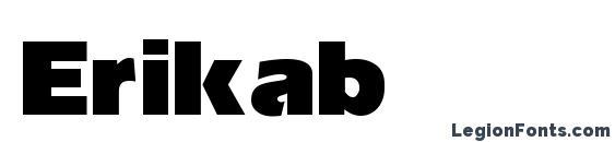Erikab font, free Erikab font, preview Erikab font