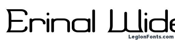 шрифт Erinal Wide, бесплатный шрифт Erinal Wide, предварительный просмотр шрифта Erinal Wide