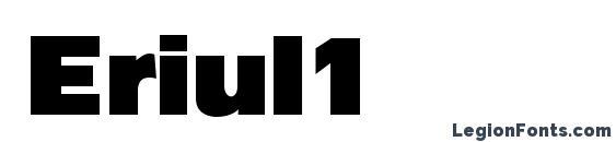 Шрифт Eriul1