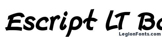 Escript LT Bold Italic Font