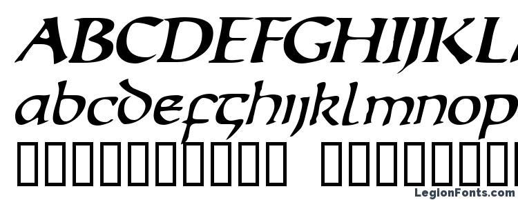 глифы шрифта Escudedisplayssk italic, символы шрифта Escudedisplayssk italic, символьная карта шрифта Escudedisplayssk italic, предварительный просмотр шрифта Escudedisplayssk italic, алфавит шрифта Escudedisplayssk italic, шрифт Escudedisplayssk italic
