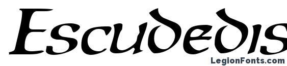 Шрифт Escudedisplayssk italic