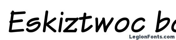Eskiztwoc bolditalic Font, Stylish Fonts