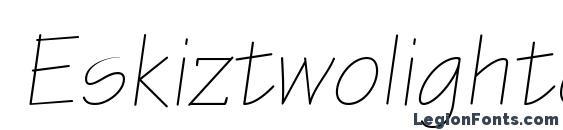 Eskiztwolightc italic Font
