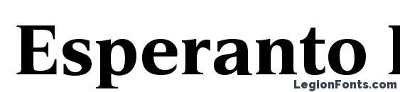 шрифт Esperanto Bold, бесплатный шрифт Esperanto Bold, предварительный просмотр шрифта Esperanto Bold